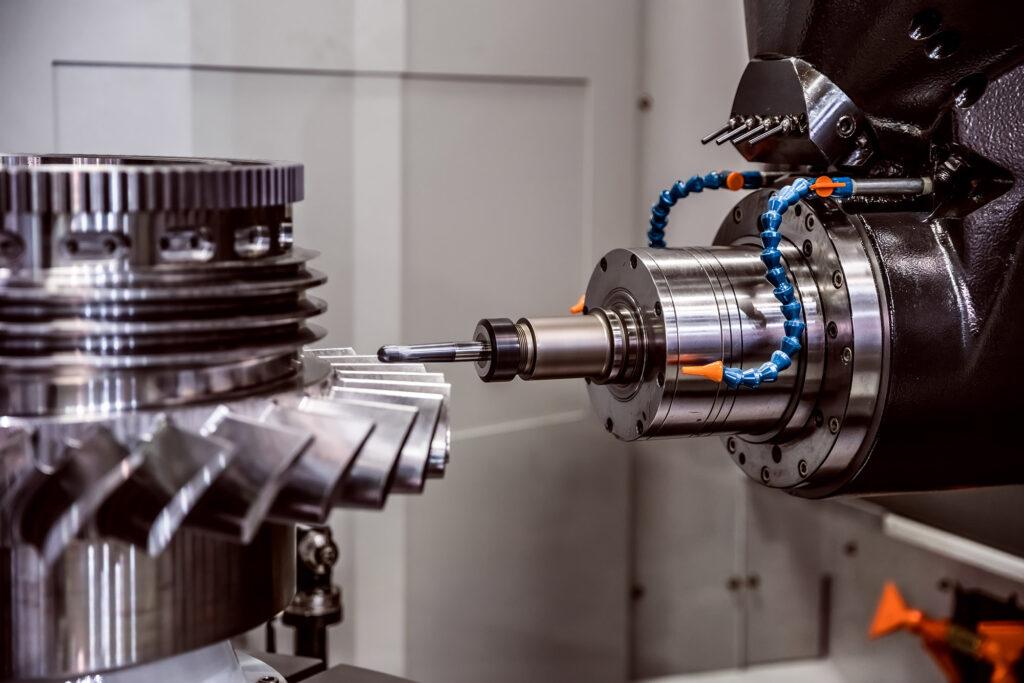 Frezen door CNC machine